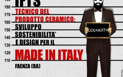 APERTE LE ISCRIZIONI AL CORSO IFTS TECNICO DEL PRODOTTO CERAMICO:  SVILUPPO, SOSTENIBILITA' E DESIGN PER IL MADE IN ITALY